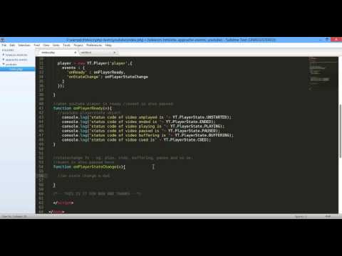 02 Easy Youtube iframe API PlayerState and Status Code 720p - YouTube