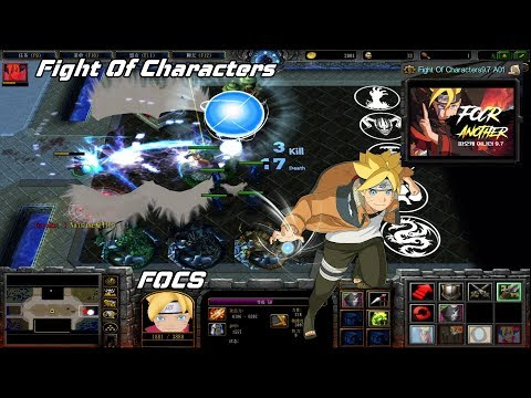 Warcraft 3 | FOCS Fight Of Characters 9.7A Boruto