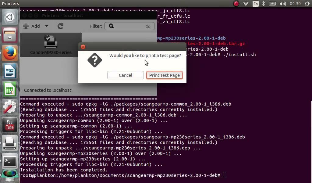 Cara install driver printer Canon Pixma MP237 di Linux Ubuntu