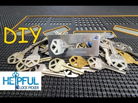 [163] DIY: How To Decode A Key To A Lock By Sight In Minutes! (Basic DIY Locksmithing)