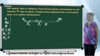 Решение задач на напряженность электрического поля (урок первый)