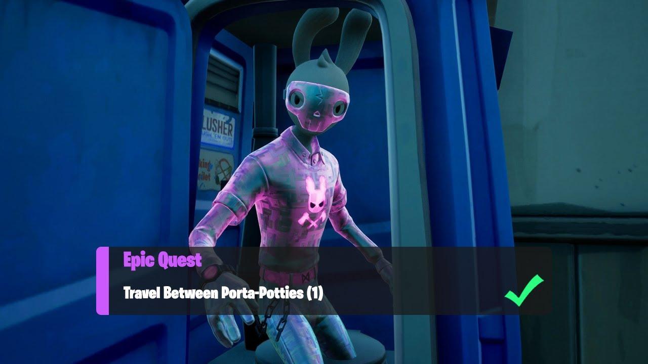 Travel Between Porta-Potties (1) - Fortnite Week 3 Epic Quest