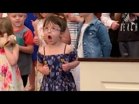 Kat Jackson - Funny - Little Girls Animated Dance at Graduation