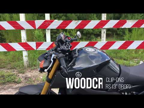 FZ-09 MT-09 Woodcraft Handle Bar Clip-Ons Review