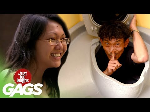 Head Pops Out of Toilet - JFL Gags Asia Edition