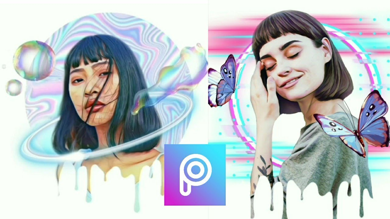 PICSART TUTORIAL. CARA EDIT FOTO DRIPPING EFFECT. STEP BY STEP