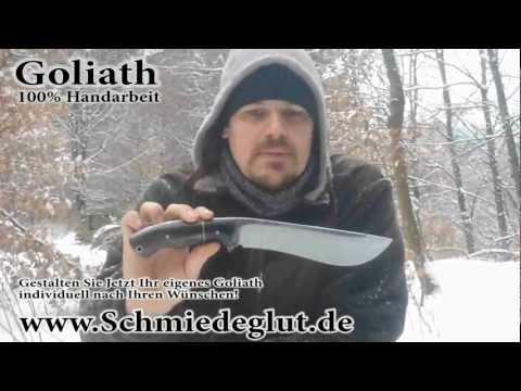 Carinthia Observer im Winter + Goliath beim Holzhacken ( Schmiedeglut Outdoor Test 1 )