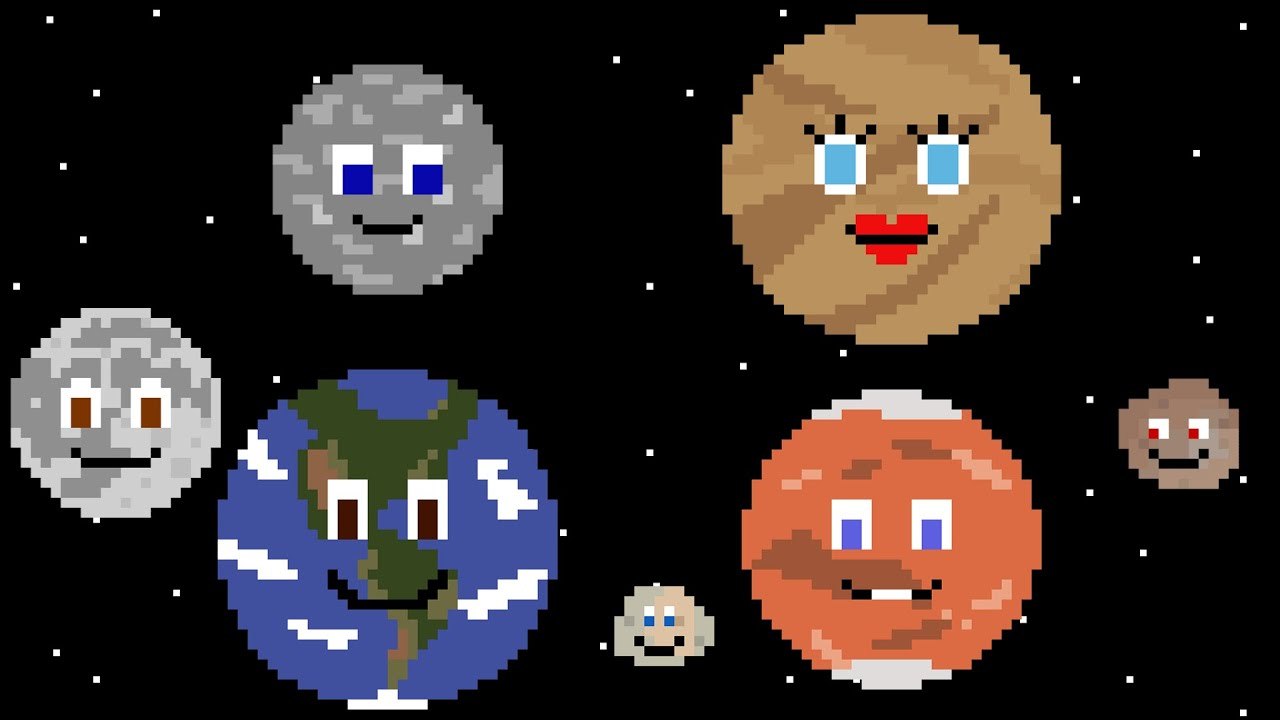 Planets and Moons of the Inner Solar System - The Kids' Picture Show