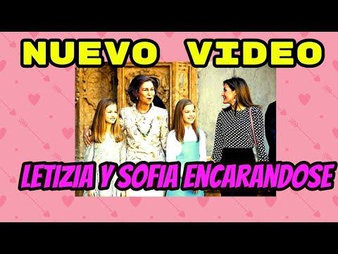 Letizia : Nuevo Video  muestra a Letizia encarándose a Sofía en la catedral.