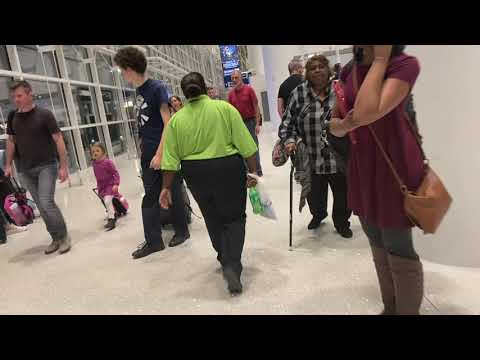 HD Walkthrough/Tour of Post Security at the New MSY (Louis Armstrong New Orleans Int'l Airport)