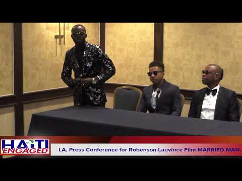 Press Conference for Robenson Lauvince Film MARRIED MAN, in Los Angeles California