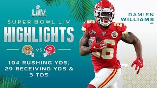 Damien Williams Pops Off for 133 Total Yds & 2 TDs | Super Bowl LIV Highlights