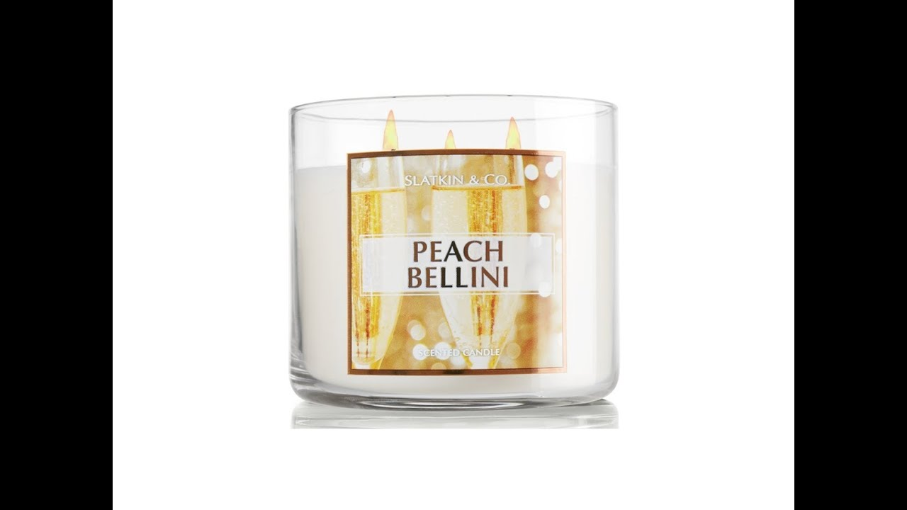 Peach Bellini Candle Review 3 Wick Bath Body Works Youtube