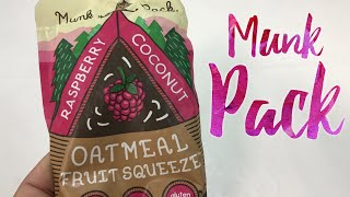 Raspberry Coconut Oatmeal Fruit Squeeze Munk Pack