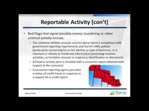 Training   Anti Money Laundering and Suspicious Activity Reports