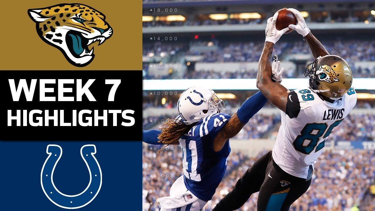 Jaguars Vs. Colts | NFL Week 7 Game Highlights