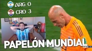 ARGENTINA 0 vs 3 CROACIA | MUNDIAL RUSIA 2018 | REACCIÓN DEL PARTIDO