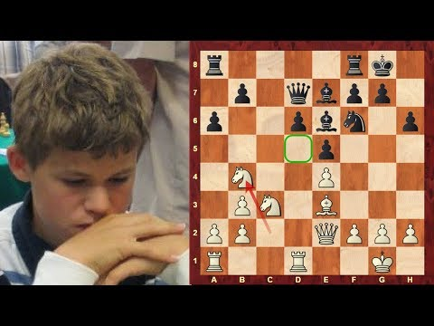 Amazing Chess Game: Magnus Carlsen vs John Nunn - Youth vs Experience 2006 - Sicilian, Najdorf (B90)