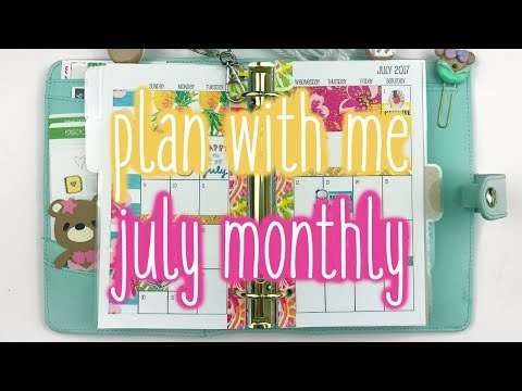 Plan With Me ♡ July Monthly (Sew Much Crafting - Personal)