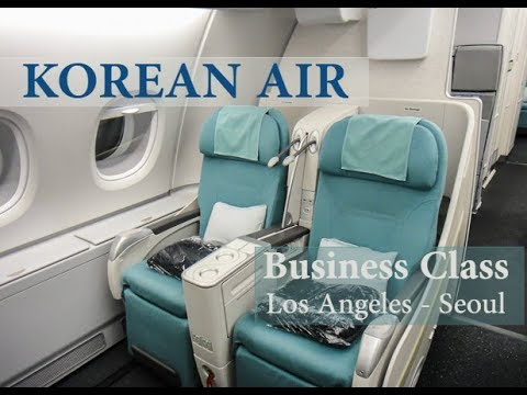 Korean Air | Business Class | Los Angeles to Seoul | Lounge| 4K