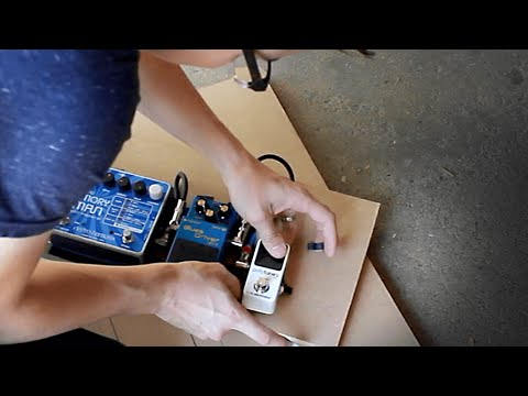 Easy DIY Pedalboard with Tape and Scrap Wood | vlog #31
