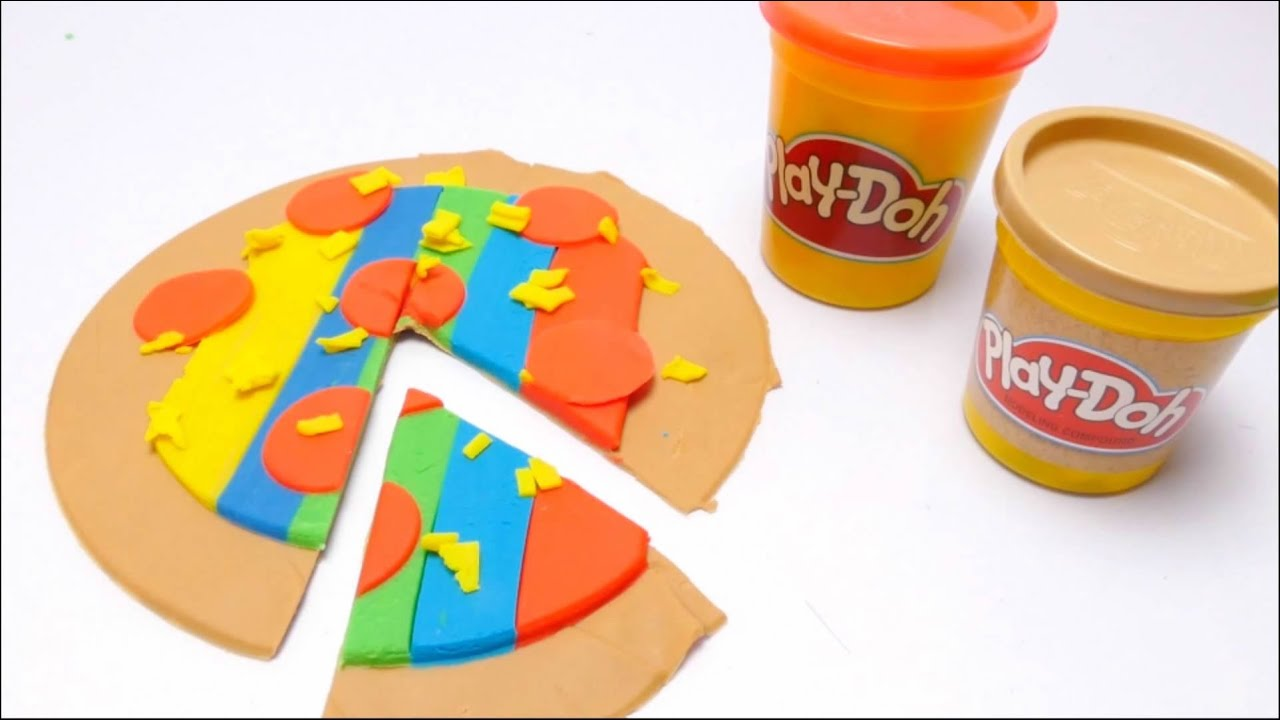 DIY Play Doh Pizza Cooking with Toys for Kids