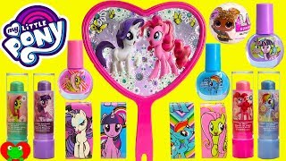 My Little Pony Cosmetics Lip Balm LOL Glitter Surprise Dolls and Twilight Sparkle Castle Jewelry Box