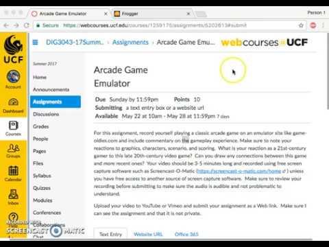 DIG 3043- Arcade Game Emulator by Ridge Miller