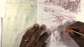 Drawing comic book environments & improving your figure drawing: Gerimi Drawing Comics #114