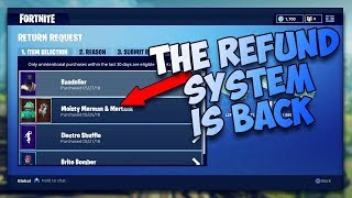 *NEW* REFUND SYSTEM!! REFUND ANY SKIN IN FORTNITE!!