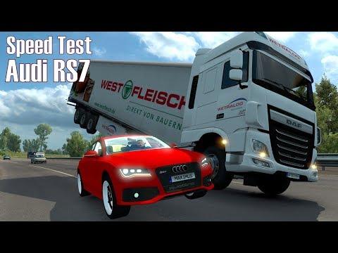 ETS2 v1.28 I Speed Test ★ Audi RS7 [Deutsch/HD]