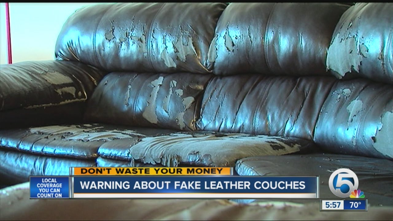 pu leather sofa repair diy build a sectional warning about fake couches youtube