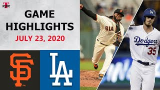 San Francisco Giants vs. Los Angeles Dodgers Highlights  | July 23, 2020 (Opening Night)