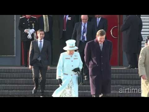 Her Majesty The Queen departs Heathrow for the UAE