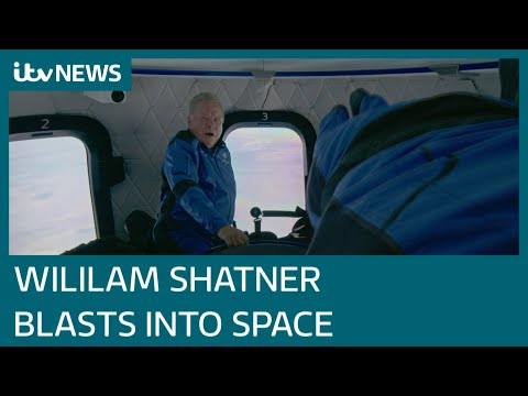 Star Trek's William Shatner, 90, becomes oldest person to go to space   ITV News