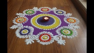 Easy ,Beautiful And innovative rangoli  designs with colours by Shital Daga