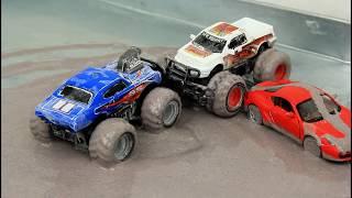 Monster Trucks Epic Battle Video for Kids
