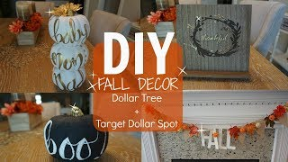 DIY FALL DECOR - PART 1// DOLLAR TREE & TARGET DOLLAR SPOT