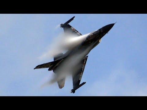 4K�ᴴᴰ / BELGIAN AIR FORCE F-16 'DARK FALCON' SOLO DISPLAY TEAM POWERFUL DEMO @ NATO DAYS 2018