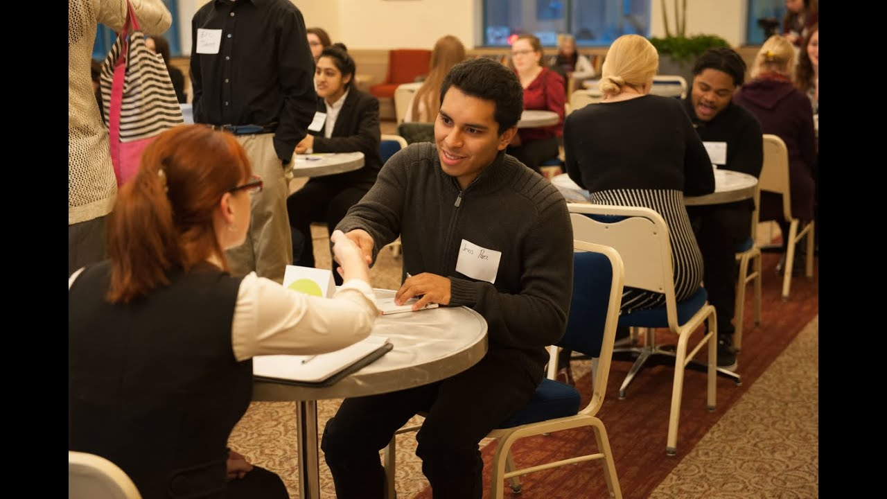 Speed dating networking event