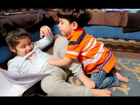 BABY BROTHER FIGHTS HIS SISTER!!