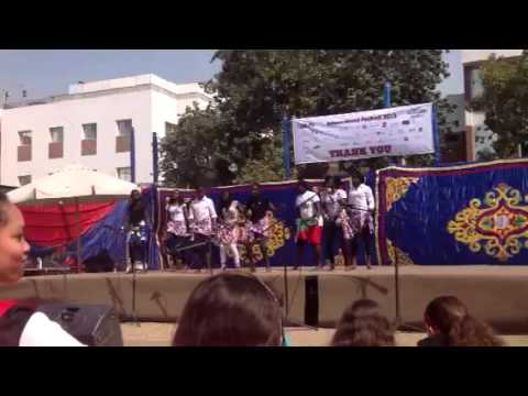 African Hope school,,, dance group at C.A.C I the internati
