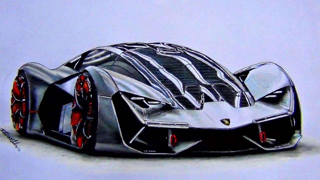 Drawing The Fabulous Lamborghini Terzo Millennio Youtube