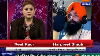 TV84 News 8/14/14 P.1 Interview with Harpreet Singh (Toronto) on Sikhs in Independent India