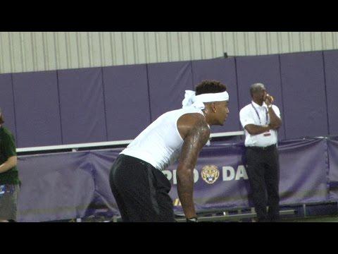 Tre White, Jamal Adams in DB drills | LSU PRO DAY HIGHLIGHTS