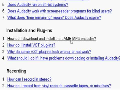 How to enable mp3 support on audacity