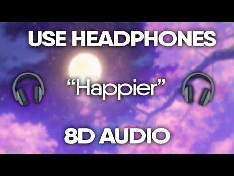 Marshmello - Happier (8D Audio) 🎧 (Lyrics)