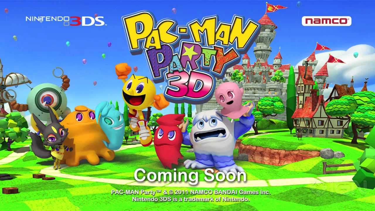 Pac Man Party 3d Official Trailer E3 2011 Youtube