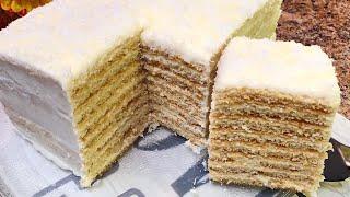 Очень вкусный торт МОЛОЧНАЯ ДЕВОЧКА за 30 минут