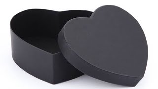 How To Make Heart Shaped Paper Gift Box - Heart Box - Paper Craft | DIY |